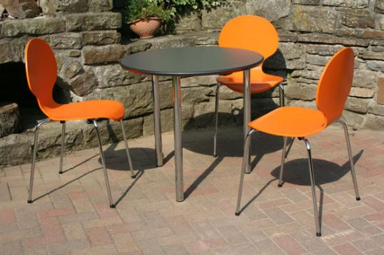 orange kantinenstuehle oranger kantinenstuhl bistrostuehle