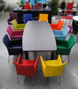 Esstisch stühle bunt  Kantinenstühle, Kunstleder, Velbert, Wuppertal, Köln, Planung ...